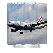 Croatia Airlines Airbus A319 Shower Curtain