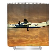 Croatia Airlines Bombardier Dash 8 Q400 Shower Curtain