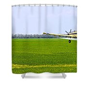 Crop Dusting Shower Curtain