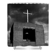 Cross And Bell Shower Curtain