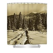 Cross Country Adventure Shower Curtain