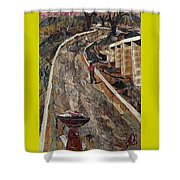 Cross-country Road Shower Curtain