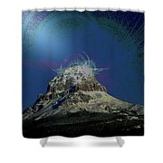 Crowsnest Mountain  Shower Curtain