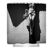 Crucifixion Shower Curtain by Dave Bowman