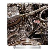 Custom Car Chromed Engine Shower Curtain
