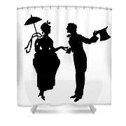 Cut-paper Silhouette Shower Curtain