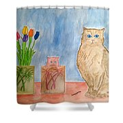 Cute And Cuddly Shower Curtain