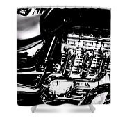 Cycle Abstract Shower Curtain