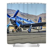 Czech Mate Engine Start Sunday Afternoon Gold Unlimited Reno Air Races Shower Curtain