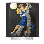 Dance Me To The Moonlight Shower Curtain