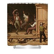 Dance Of The Haymakers Shower Curtain