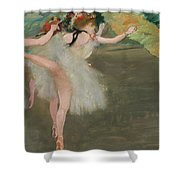 Dancers In White Shower Curtain