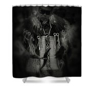 Dancing To The Drum Shower Curtain