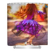 Dancing To The Drums Shower Curtain