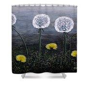 Dandelion Family Shower Curtain