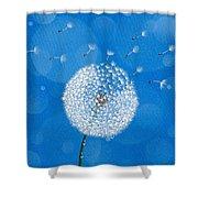 Dandelion Flying Shower Curtain