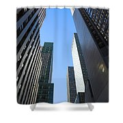 Dark Manhattan Skyscrapers Shower Curtain