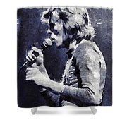 David Bowie By Mary Bassett Shower Curtain