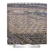 Davis-monthan Air Force Base Airplane Shower Curtain