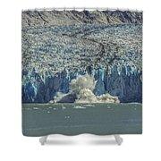 Dawes Glacier Calving #1 Shower Curtain