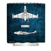 de Havilland Venom Shower Curtain