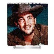 Dean Martin By John Springfield Shower Curtain