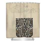 Decorative Design And Sketch Of The Front Tympanum Of The Royal Palace In Amsterdam, Carel Adolph Li Shower Curtain