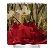 Decorative Mixed Media Floral A3117 Shower Curtain