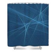 Deep Sea Computer Graphic Line Pattern Shower Curtain