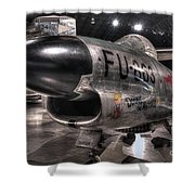 Dennis The Menace, North American, F-86d Sabre Shower Curtain