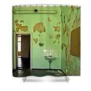 Derelict Hospital Room Shower Curtain