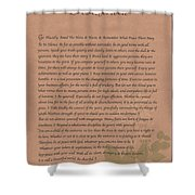 Desiderata 9 Shower Curtain