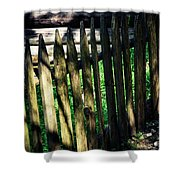 Detail Of An Old Wooden Fence Shower Curtain