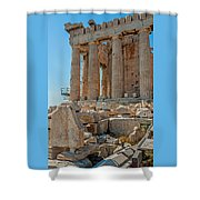 Detail Of The Acropolis Of Athens, Greece Shower Curtain