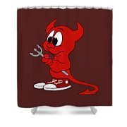 Devil Shower Curtain