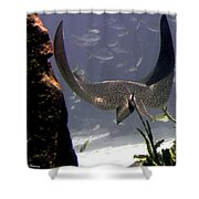 Devilray In Paradise Shower Curtain