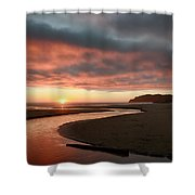 Devils Kitchen Sunset Shower Curtain