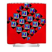 Diamond Red Shower Curtain