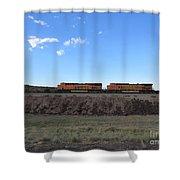 Diesel Train Engines Shower Curtain