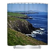Dingle Coastline Near Fahan Ireland Shower Curtain