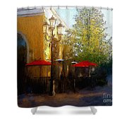 Dining At The Village Shower Curtain