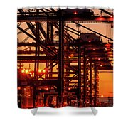 Docks Shower Curtain