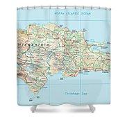 Dominican Republic 2 Shower Curtain
