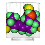 Domoic Acid Molecular Model Shower Curtain