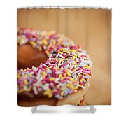 Donut And Sprinkles Shower Curtain
