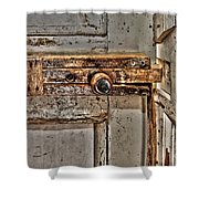 Door Latch Shower Curtain