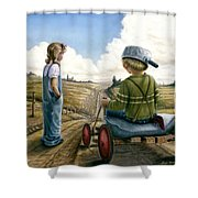 Down Hill Racer Shower Curtain