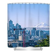 Downtown Cityscape View Of Seattle Washington Shower Curtain