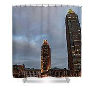 Downtown Cleveland At Dusk Shower Curtain