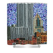 Downtown Pittsburgh - View From Smithfield Street Bridge Shower Curtain